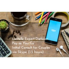 Laritelle Expert Dietician Pay as You Go Initial Consult for Couples via Skype (1.5 hours)