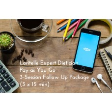 Laritelle Expert Dietician Pay as You Go 3-Session Follow Up Package (3 x 15 min)