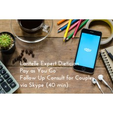 Laritelle Expert Dietician Pay as You Go Follow Up Consult for Couples via Skype (40 min)