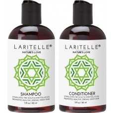 Laritelle Organic (Travel Size) Shampoo 2 oz + Conditioner 2 oz Nature's Love